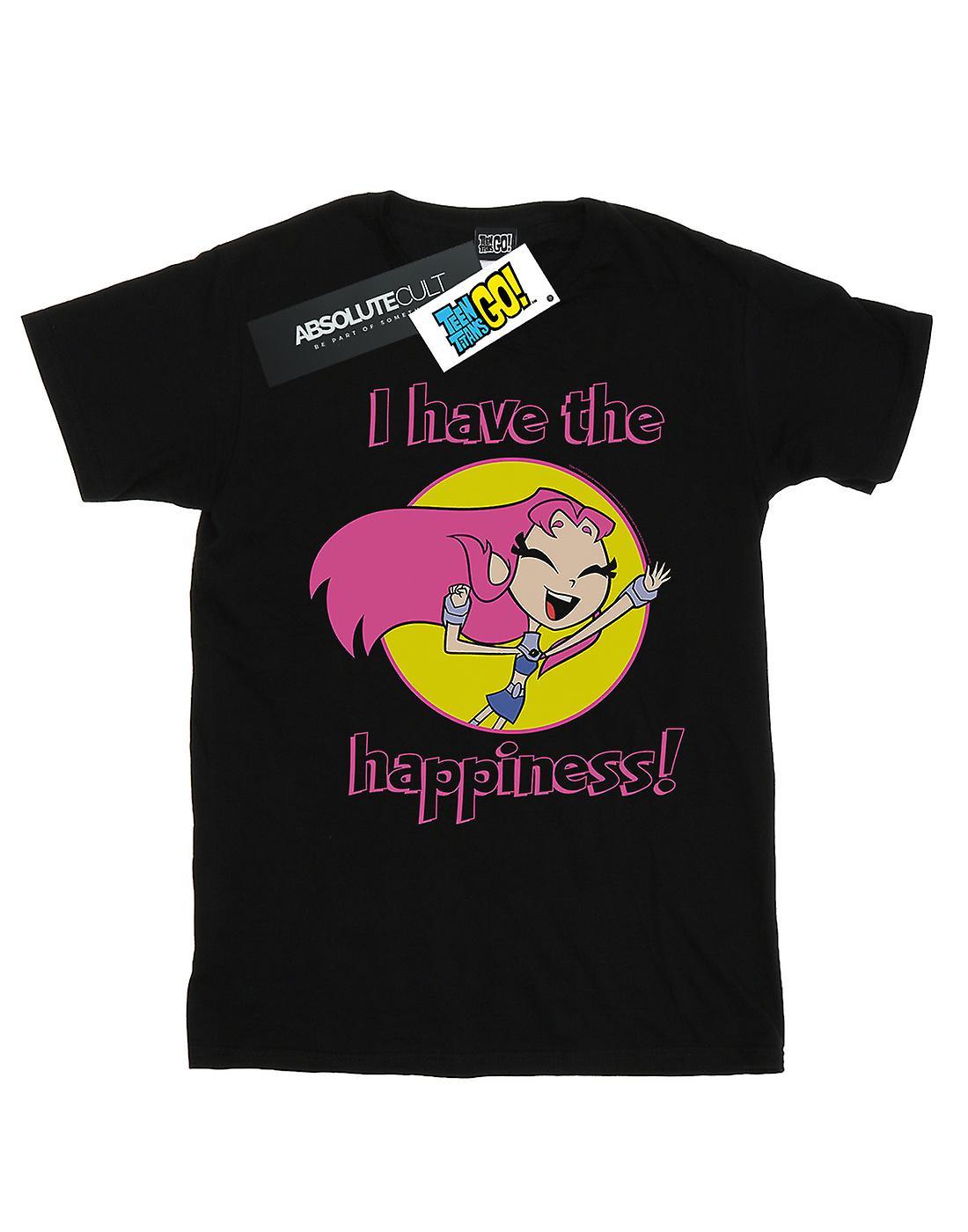 DC Comics Women's Teen Titans Go I Have The Happiness Boyfriend Fit T-Shirt