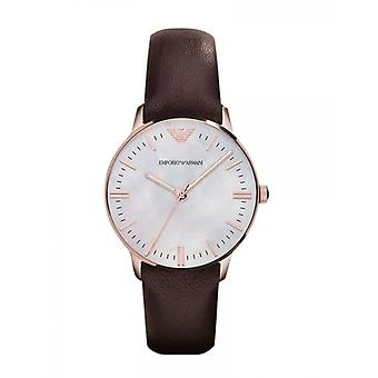 Emporio Armani Mens' Watch - AR1601 - White Mother of Pearly/Black