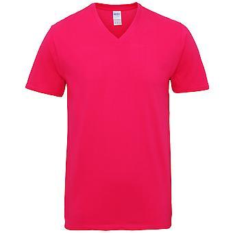 Gildan Mens Premium coton V Neck Short Sleeve T-Shirt
