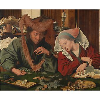المسيّرة وزوجته، مارينوس فان ريمرسوائلي، 50x40سم
