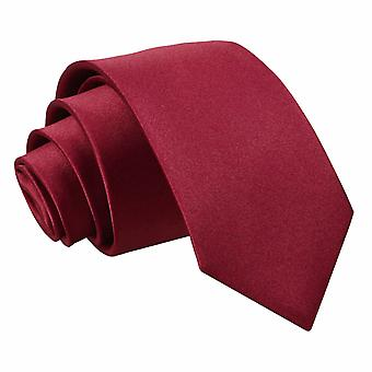 Cravatta in raso di Borgogna pianura regolare per i ragazzi