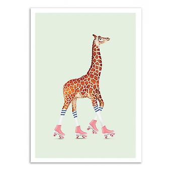 Pôster de Arte - Girafa patinador - Jonas Loose