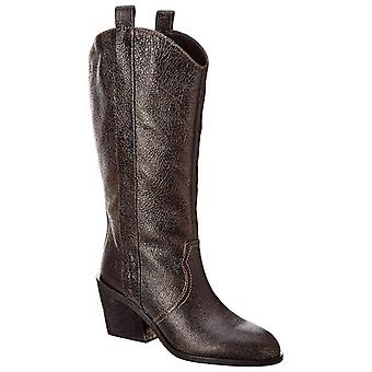 Donald J Pliner Womens Riot Leather Almond Toe Mid-Calf Cowboy Boots
