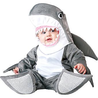 Grå Shark spädbarn kostym