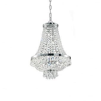 Ideale Lux Caesar 6 Glühbirne Anhänger Licht Chrom