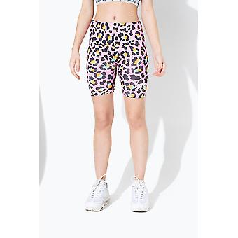Hype Disco Leopard Kids Cycle Shorts