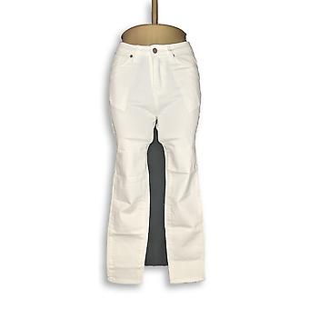 BROOKE SHIELDS Timeless Women's Petite Jeans Colored Denim Slim White A311007