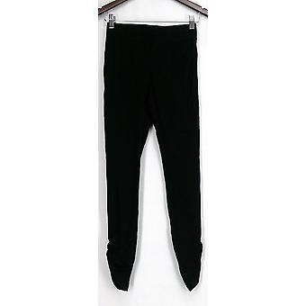 Afslanken opties voor Kate & Mallory leggings Ruched zijden zwart A426083