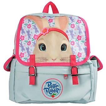Childs Peter Rabbit Lily bleke blauwe en roze Satchel rugzak