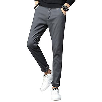 Allthemen Men's Hose dick eded Warm Slim Fit Baumwolle Mid-Waist Hose