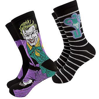 Joker Charakter und J Logo Men's 2-Pack Crew Socken