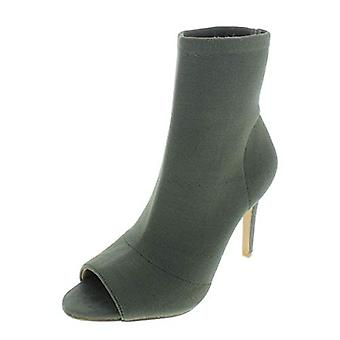 INC Womens Rielee Ankle Open Toe Sock Boot