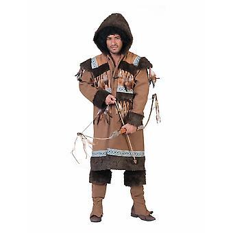 Eskimo Northern Men's Costume Inuit Igloo Resident Men's Costume