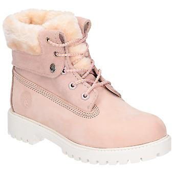 Darkwood Womens Walnut II Lace Up Boot Light Pink/White Sole