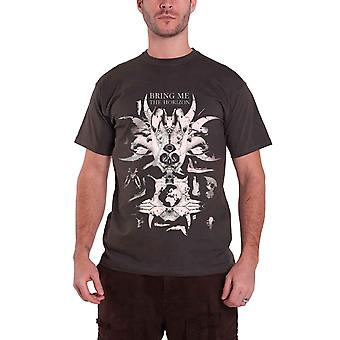 Bring Me The Horizon T Shirt Skull & Bones band logo Official Mens Black