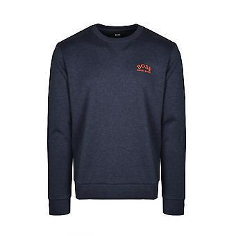 BOSS Athleisure Boss Salbo Crew Neck Sweatshirt Open Blue