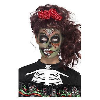 Päivä kuolleiden zombie make-up Kit Halloween kasvot maalit