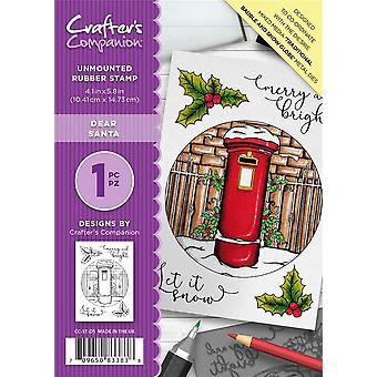 Crafter's Companion A6 Rubber Stamp - Dear Santa