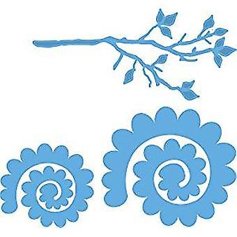 Marianne Design Branch en bloem 1 Creatable die, blauw