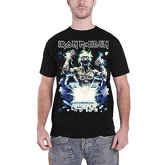 Logotipo de la banda de Iron Maiden T Shirt velocidad de la luz Eddie nuevo oficial para hombre negro