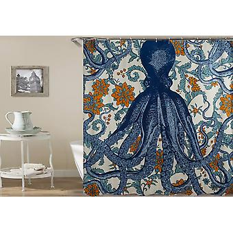 Octopus Vintage kleuren douche gordijn