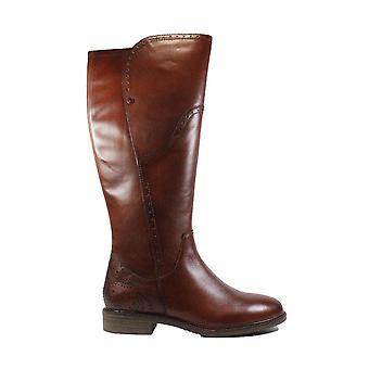 Tamaris 25539 Brown Cuir Femme Brogue Bottes longue jambe