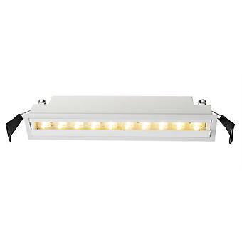 Lampe de plafond encastrée LED Ceti 10 20W 3000K L 257mm blanc dimmable IP20