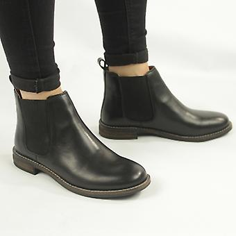 Cipriata Alexandra Ladies Leather Slip On Chelsea Boots Black