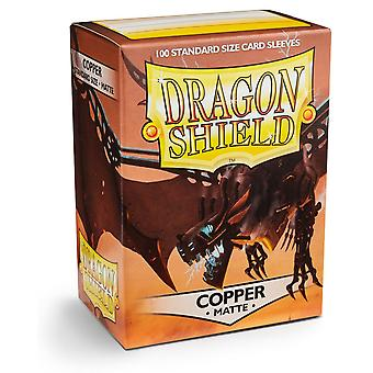 Dragon Shield Matte - Cobre 100ct. en caja (Pack de 10)