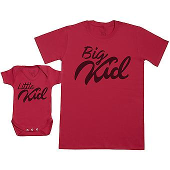 Little Kid & Big Kid - Set regalo per bambini con Baby Body & Father's T-Shirt