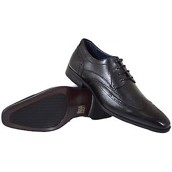 Azor Shoes Catania Black Leather Shoes
