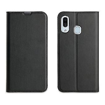 Galaxy A40 Black Card Gate Case - Muvit