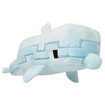 Minecraft, stuffed animal/stuffed Toy-Dolphin (35 cm)