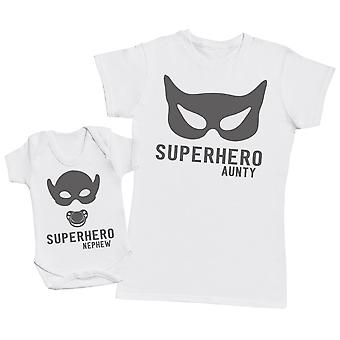 Superhero Nephew - Aunty T Shirt & Baby Bodysuit