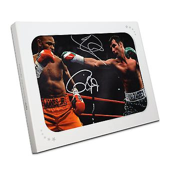 Joe Calzaghe e Roy Jones Jr assinado Boxe Photo In Gift Box
