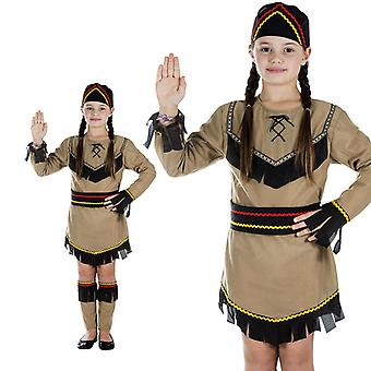 Native American Indian girls of Wild West kids costume