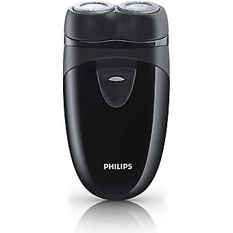 Philips Travel Shaver with Twin Rotary Heads and Travel Pouch - Black (PQ203/17)