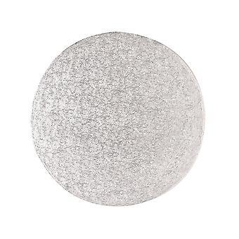 Culpitt 12'quot; (304mm) Cake Board Round Silver Fern (individuellement enveloppé) Pack de 5