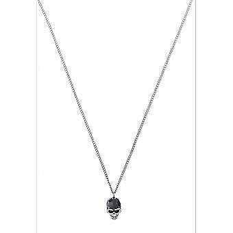Swarovski necklace and pendant 5427128 - Taddeo Noir M tal Plaqu Palladium Men