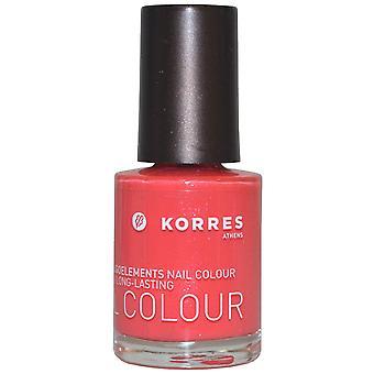 Korres kynsien väri korkean kiillon pitkäkestoinen 10ml Grenadine vaaleanpunainen (#49) [7-Free]