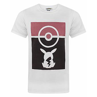 Pokemon Pokeball Pikachu Silhouette Men-apos;s T-Shirt
