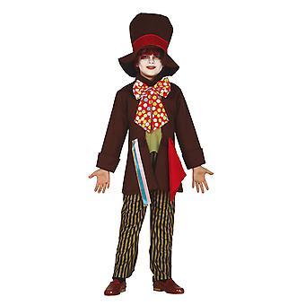 Garçons Crazy Tailor Mad Hatter Fancy Dress Costume