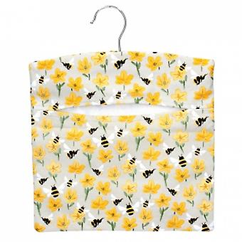 Gisela Graham Bee and Buttercup Fabric Peg Bag | Handpicked gifts