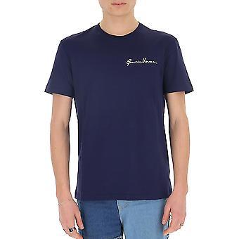 Versace A84828a228806a2319 Men's Blue Cotton T-shirt
