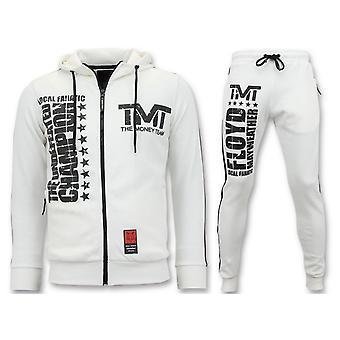 بدلة الركض - مجموعة TMT فلويد مايويذر - أبيض
