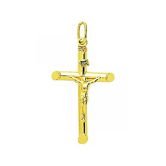 Pendentif Croix Christ or 750/1000 jaune  (18K)