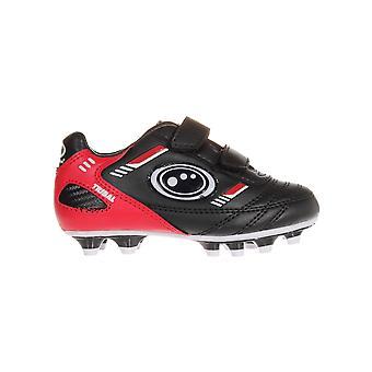Optimum Tribal Strap Moulded Kids Football Boot Black/Red