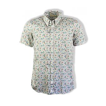 Far Afield Mod Button Down Short-Sleeved Shirt (Hippies)