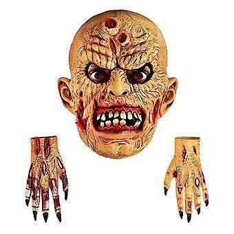 Skrik Maskin Unisex Voksne Halloween Zombie Maske & Hender