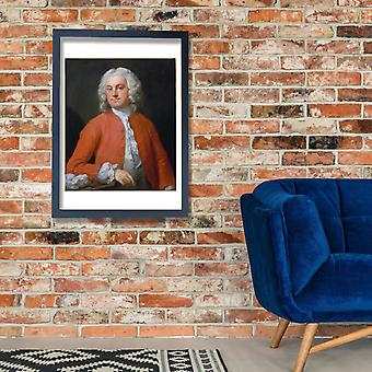 William Hogarth - Portrait of a Man Poster Print Giclee
